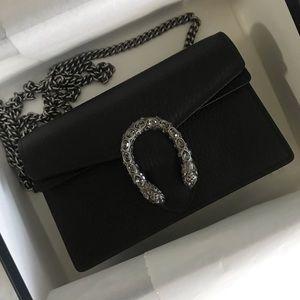 Gucci Bags - Gucci Black Leather Dionysus Supermini Bag
